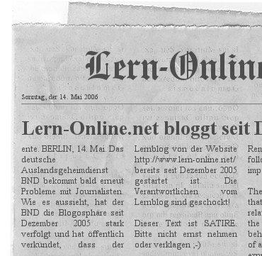 Lern-Online bloggt seit Dezember 2005