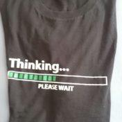 Fortschrittsbalken Geekshirt Thinking