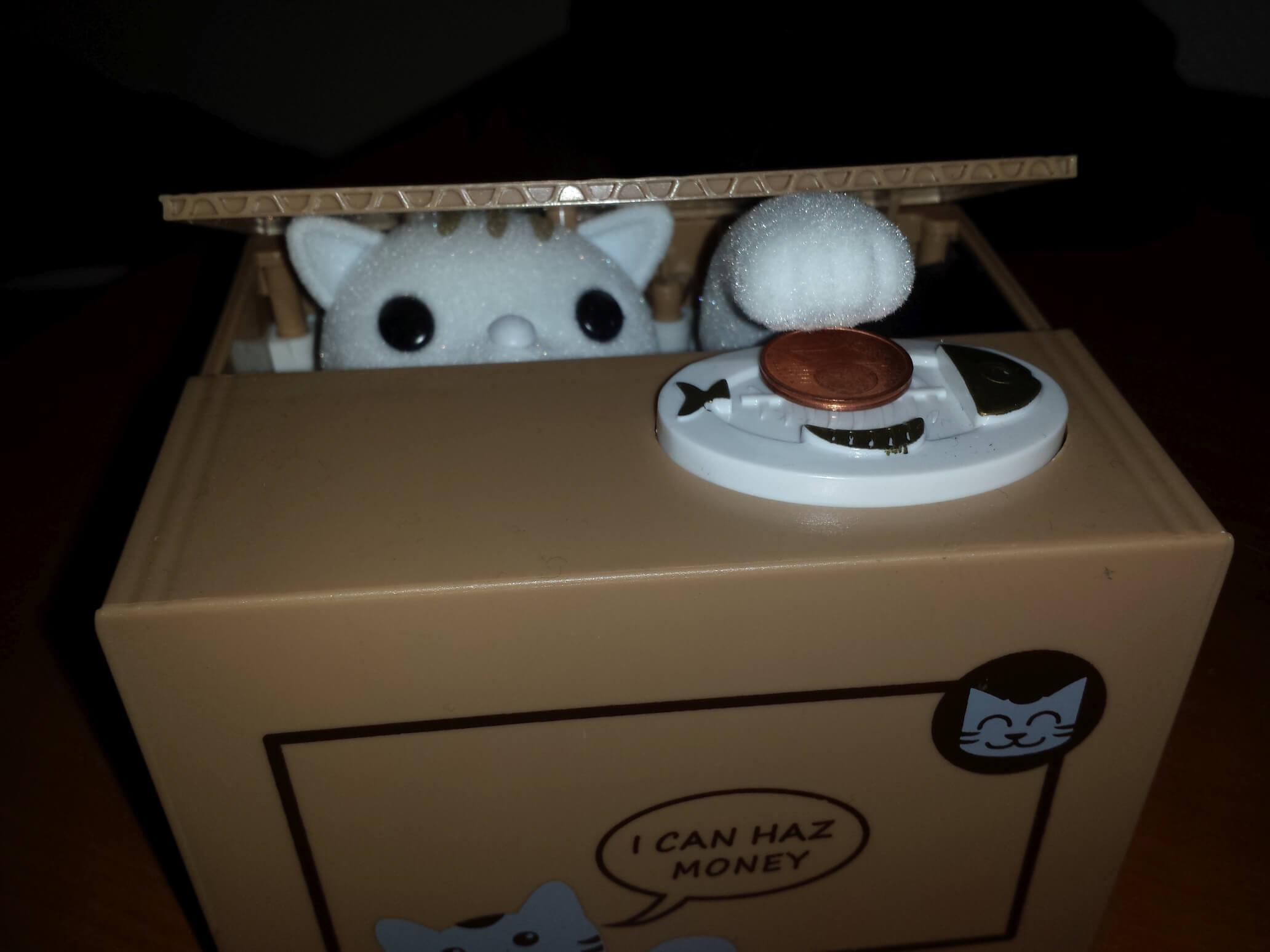 Katzenspardose I can haz money Spieldosen