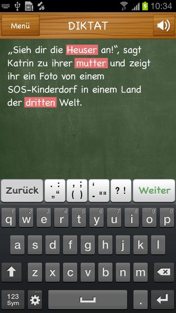 Screenshot auf einem Android-Gerät