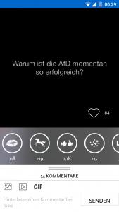 Screenshot Wissen2go App Bewertung