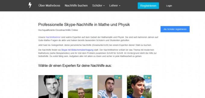 2. Screenshot von Matheboss
