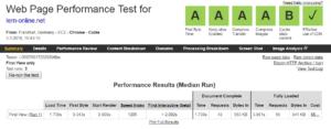 Web Page Performance Test am 3. März 2018